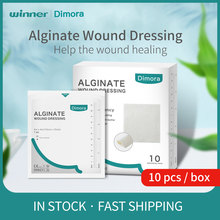 Winner Dimora Calcium Alginate Wound Dressing Sterile Pads Soft Highly Absorbent Dressing Gauze Non-Stick Ulcer Wound Healing 7s