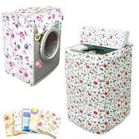 1 Pcs Front Loading Washing Machine PVC Dustproof Cover Waterproof Case Washing Machine Protective Fabric Jacket Random Color|Washing Machine Covers| |  -