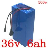 Bateria elétrica do íon do lítio da bateria 36 v 6ah da bicicleta 36 v 6ah para 36 v 250 w 350 w 500 w bateria elétrica do trotinette com carregador 42 v 2a