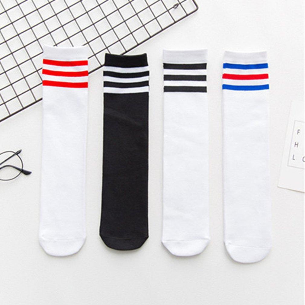 High Elasticity Girl Cotton Knee High Socks Uniform Skate Team Women Tube Socks