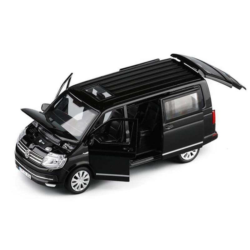 1:32 Zinc Alloy Bus Volkswagen Multivan T6 Van Alloy Toy Car Diecast Model Sound Light Pull Back MPV Boys Toys Children GiftsDiecasts & Toy Vehicles