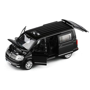 1 32 stopu cynku autobus Volkswagen Multivan T6 Van samochodzik-zabawka ze stopu metali model odlewu dźwięk światła wycofać MPV chłopców zabawki dla dzieci prezenty tanie i dobre opinie 3 lat Inne Diecast Certyfikat 010046 Samochód