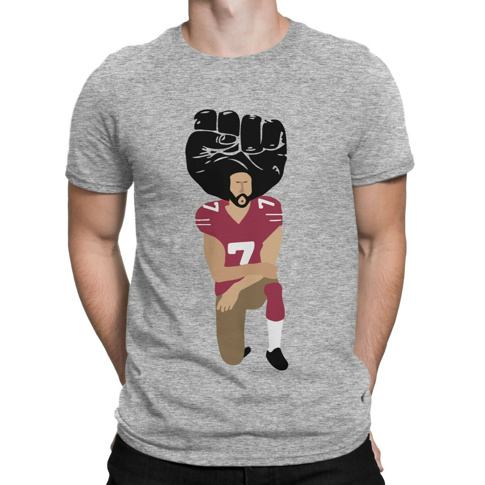 Colin Kaepernick Protest Nah Im With Kap  Football T Shirt