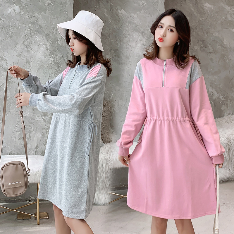 Autumn Long Sleeve Hoodies Casual Bottoming Maternity Dresses For Pregnant Women Clothes Pregnancy Vestidos Maternity Clothing