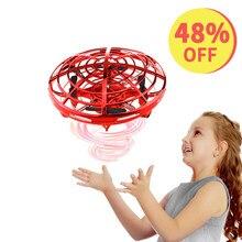 Drone UFO actionné à la main RC hélicoptère boule de cadeau de noël pour enfants infrarouge Induction avion volant jouet pour enfant livraison directe