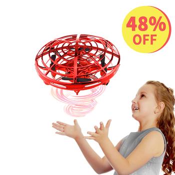 Drone UFO ręczny helikopter RC Christmas gift Ball dla dzieci indukcja na podczerwień samolot zabawka latająca dla dziecka Dropshipping tanie i dobre opinie Global Drone CN (pochodzenie) latex Metal RUBBER Z tworzywa sztucznego About 50 Meters 11*11*6 cm Far away from fire Mode2