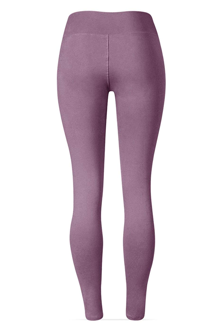 40 Pieces Waisted Leggings - 25 Colors - Super Soft Full Length Opaque Slim2019 CoolMax  Silk  Cotton