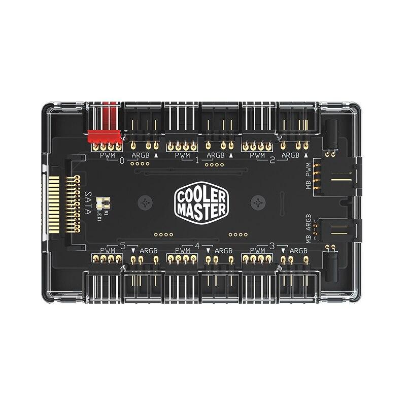 Cooler Master 1 To 6 Multi Way Splitter 5V/3PIN RGB Case Fan Hub Adapter PWM ARGB Addressble Fan Power Interface SATA