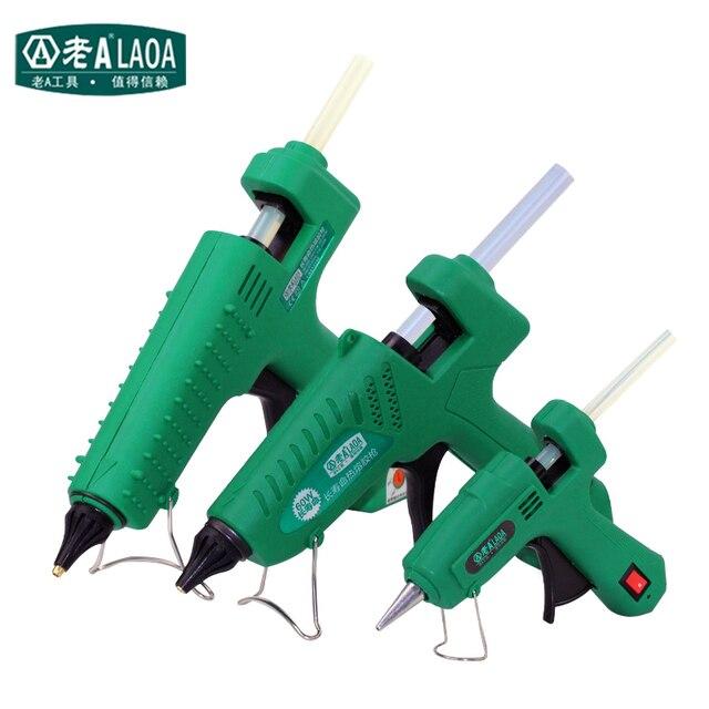 LAOA 25W/60W/100W/150W Hot Melt Kleber Gun Professionelle pistolet eine colle mini Für Metall/Holz Arbeits Stick Papier Haarnadel PU Blume