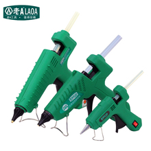 LAOA 25W/60W/100W/150W חם להמיס דבק אקדח מקצועי pistolet a colle מיני עבור מתכת/עץ עבודה מקל נייר סיכת ראש PU פרח