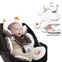 Новорожденный ребенок голова и тело поддержка безопасный коврик для сиденья автомобиля коврик для прогулочной коляски подушки младенческой сна Анти-столкновения коврик на подушку
