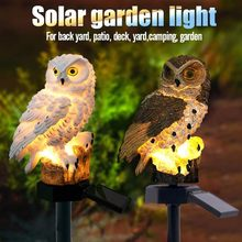 Solar LED Garden Light Owl Shape Pile Light Solar Lawn Light Family Garden Decoration Outdoor Lawn Light Energy Saving Lamp 2019(China)