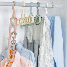 Creative Plastic Storage Rack With 9 Hole Clothes Hanger Towel Hook Closet Organizer Space Saving Practical Hanger