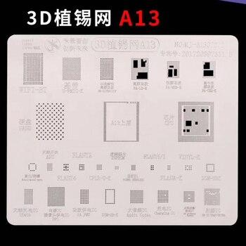3D A13 IC çip BGA Reballing Stencil Iphone Için Set 11/11 Pro/11 Pro Max