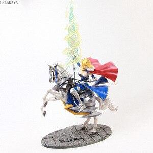 Image 1 - Figura de acción de Anime de 45cm, figura de Altria, Pendragon, FGO, sable, Lancer, Gunman a caballo, figura decorativa de PVC