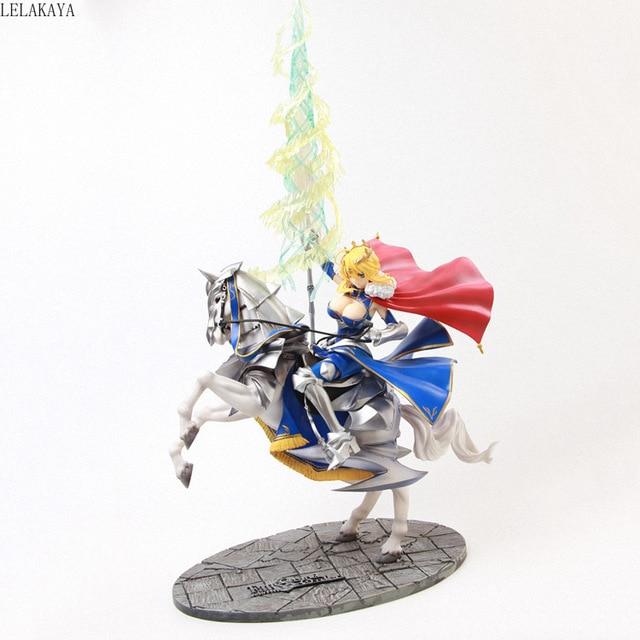 Figura de acción de Anime de 45cm, figura de Altria, Pendragon, FGO, sable, Lancer, Gunman a caballo, figura decorativa de PVC