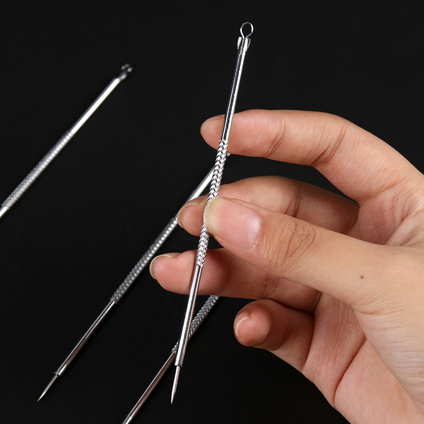 1PC Silver Blackhead Acne Needle Blemish Extractor Remover Stainless Needles Remove Tools Blackhead Remover