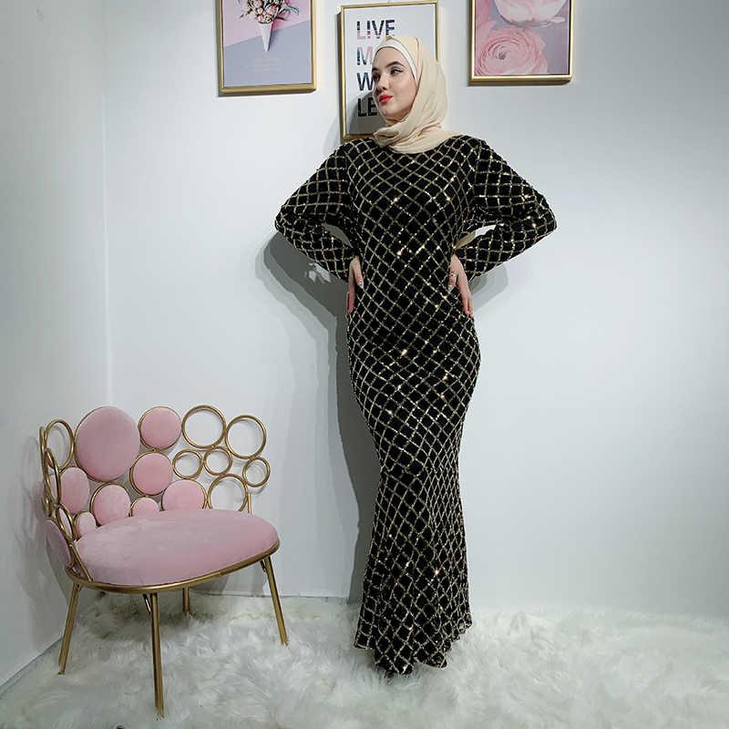 Plus Size Vestido Longo Maxi Lange Plaid Jurk Sukienka Vrouwen Lange Mouwen Party Lovertjekleding Vestidos Robe Longue Femme Elbise