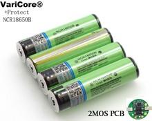 2019 chroniony oryginalny 18650 NCR18650B 3400mAh akumulator litowo-jonowy z PCB 3 7V do latarki tanie tanio VariCore 3001-3500 mAh Li-ion Baterie Tylko 1-10PCS 18 5*69 5mm Pakiet 1 3 7V-4 2V 2 75V-4 35V Latest batch
