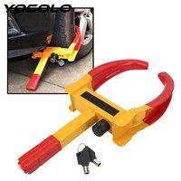 Yosolo portátil anti roubo bloqueio universal resistente braçadeira de roda de carro caminhão de carro pneu bloqueio acessórios do carro Acessórios de pneus     -