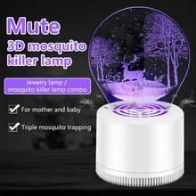 Тихая Рабочая креативная ловушка для комаров с usb кабелем светодиодная