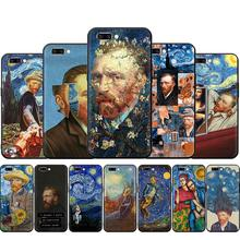 Van Gogh Starry sky art Silicone phone case for OPP