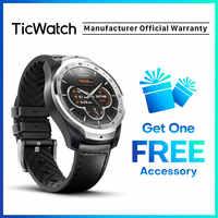 Ticwatch Pro versión Global reloj inteligente usar OS por Google para iOS y Android NFC pago GPS a prueba de agua IP 68 Bluetooth Smartwatch