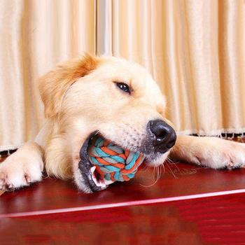 Bawełna piłka sznurowa zabawki dla psów Halloween towary dla psów gryźć zabawki dla psów akcesoria dla psów wypchane zabawki dla psów artykuły dla psów tanie i dobre opinie CN (pochodzenie) Polar Piłki cotton rope ball bite toy 51 79 108g