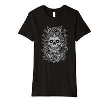 2019 New Summer Fashion Men Tee Shirt Owl Skull Torch Dagger Rose Retro School Tattoo T-Shrit Casual T-shirt(China)