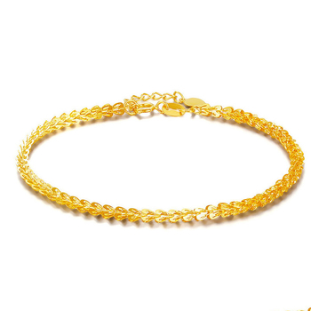 18k Pure Real Solid Gold Women Phoenix Tail Bracelet Yellow Rose Girl Genuine AU750 Female Bangle Upscale Hot 2019 Party Trendy