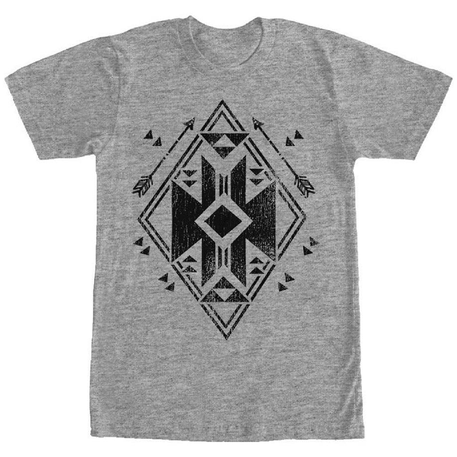 Lost Gods Geometric Arrow Mens Graphic T Shirt Cotton Short Sleeve Tee Shirt