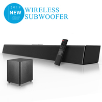 140W Home Theater Sound System Soundbar TV Bluetooth Speaker Support Optical AUX Coaxial Sound Bar Wireless Subwoofer For TV