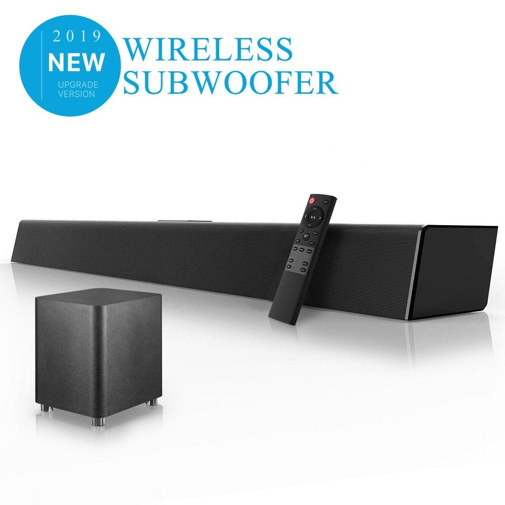 140W Home cinéma système de son barre de son TV Bluetooth haut-parleur Support optique AUX Coaxial barre de son sans fil Subwoofer pour TV