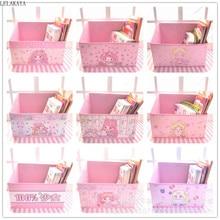 Cartoon Cute Students Dormitory Book Basket Sailor Moon My Melody Unicorn Anime Action Figure Folding Storage Box Bag Organizer