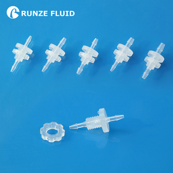 FDA Barbed Reducing Bulkhead Fitting Plastic Panel Mounting Joint Easy Replacement High Quality Molding Burr-free Non-leakage