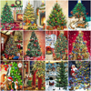 HUACAN Pictures By Number Christmas Tree Kits Home Decor Painting By Numbers Winter Drawing On Canvas HandPainted Art DIY Gift