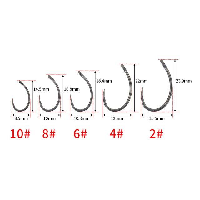 Amazing 100pcs Teflon Coating Stainless Steel Barbless Hooks Fishhooks dd20850f12db3a8f9f55a3: 10|2|4|6|8