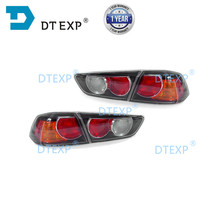 Боковой задний фонарь внутреннего водителя для Lancer ex, пассажирский боковой фонарь для EVO 10 2007 2014, задний тормоз заднего вида черного цвета, 2 версии
