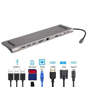 Image 1 - 6 في 1 USB نوع C Hub Hdmi PD تسليم الطاقة ميناء 4 USB 3.0 منافذ USB C مهايئ توزيع ل ماك بوك برو Thunderbolt 4 شاحن يو اس بي
