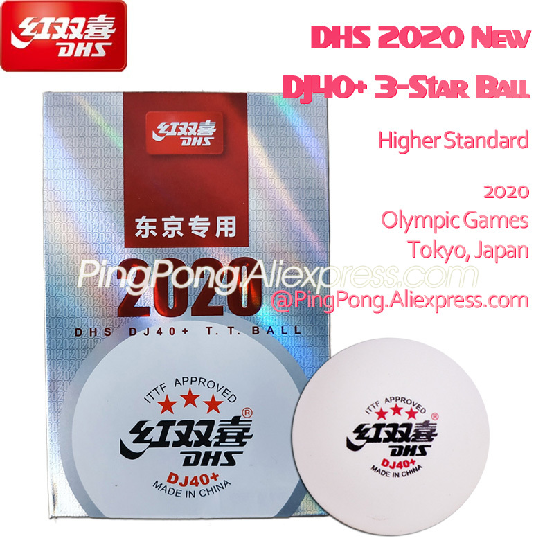 2020 New DHS DJ40+ 3-Star Table Tennis Ball Higher Standard For 2020 Tokyo Olympic Games Plastic ABS DHS 3 Star Ping Pong Balls