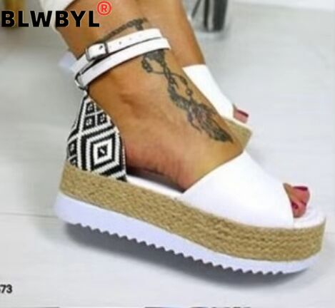 Sandals Women Wedges Shoes Pumps High Heels Sandals Summer 2019 Flip Flop Chaussures Femme Platform Sandals Sandalia Feminina