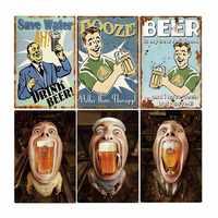 Retro Beer Poster Vintag Metal Tin Signs Bar Plates Iron Pub Club Plaque Wall Decorative Home Decor 20*30cm