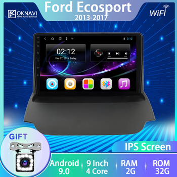 for Ford-F Ecosport 2013 2014 2015 2016 2017 Car Radio NO Cd Player Android 9.0 GPS Navigation WIFI Bluetooth 9 Inch Accessories image