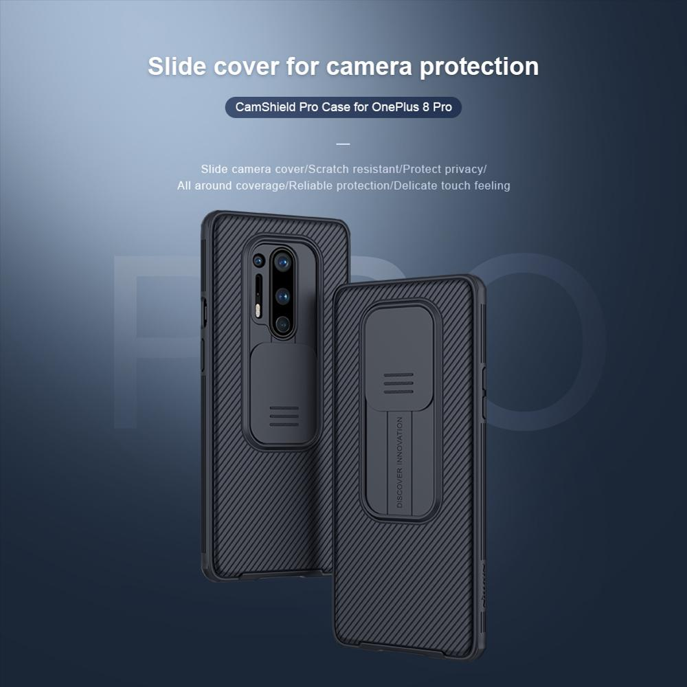 Oneplus 8 Case Oneplus 8 Pro Cover NILLKIN CamShield Pro Camera Protect Privacy Clean Back Cover For Oneplus 8 Pro/Oneplus 8