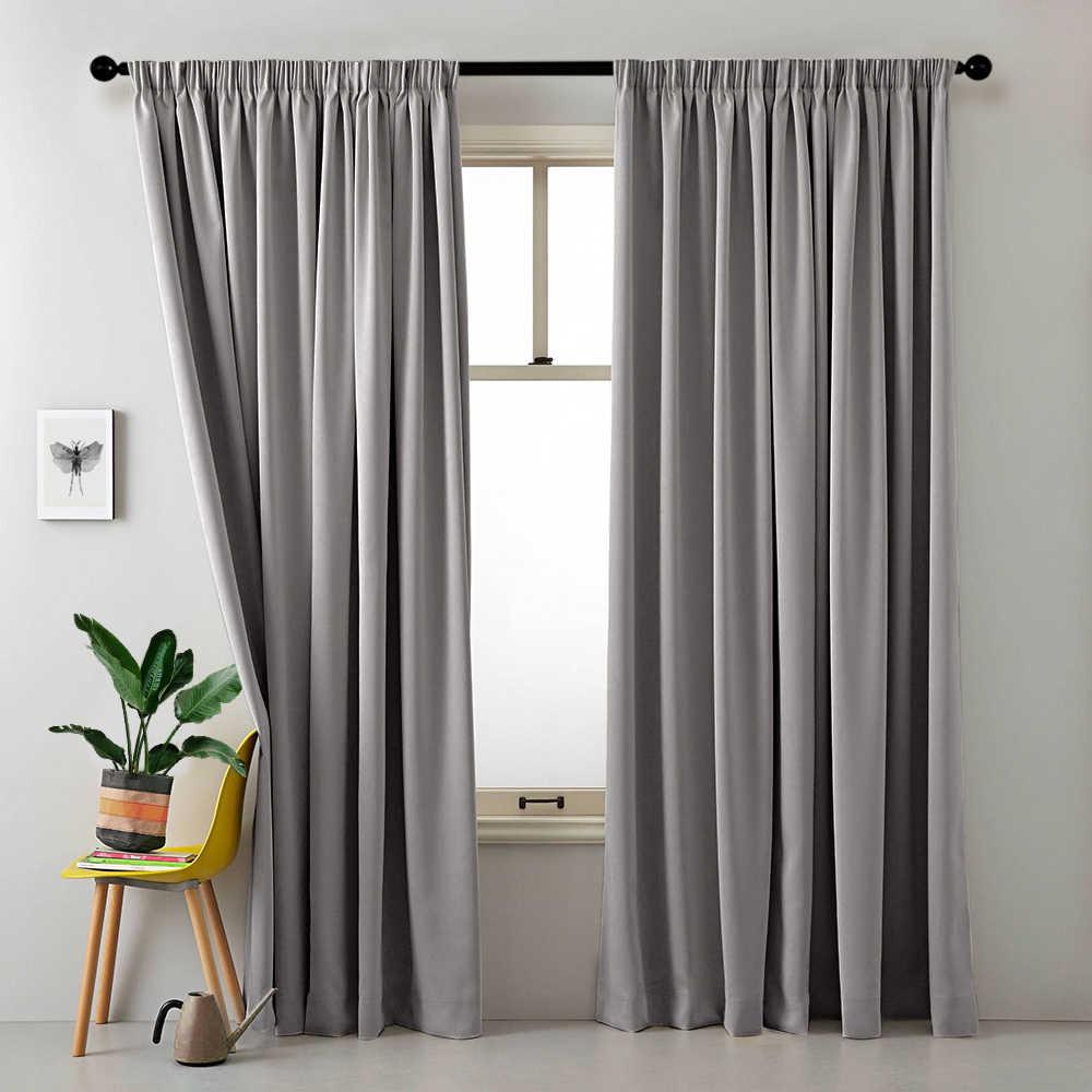 CDIY Solide Blackout Vorhänge Für Wohnzimmer Schlafzimmer Moderne Fenster Vorhänge Für Küche Vorhänge Vorhänge Dekorationen Panel