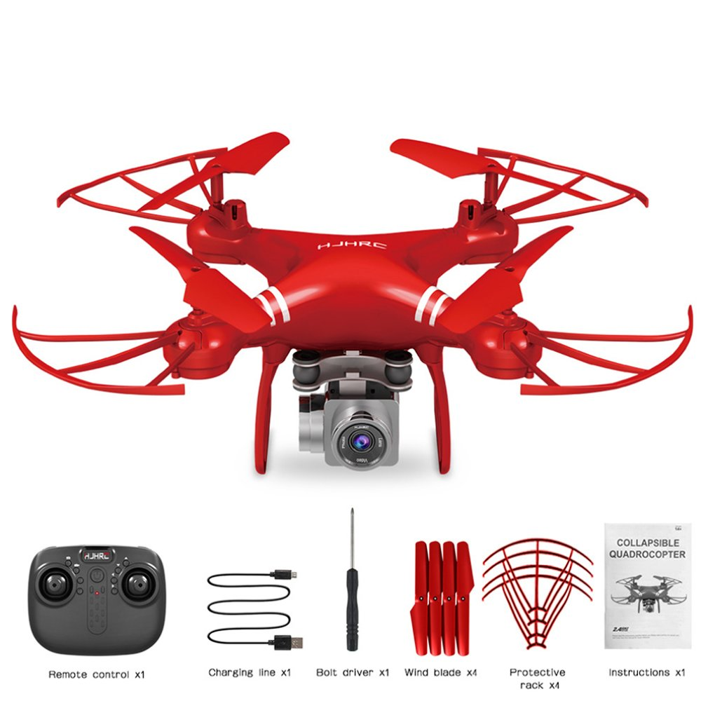 Four-Axis Aerial Drone Hj14W Hj14Q Remote Control Aircraft Hd Aerial Photography Fpv Shock Absorption Gimbal Drone With Camera