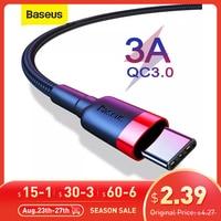 Cavo USB C Baseus tipo C cavo per Samsung S20 S10 Qucik Charge 3.0 cavo USB C cavo telefonico cavo USB tipo C cavo per Xiaomi