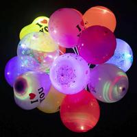 12 Inches LED Round Balloons for Party Festival Celebrations Toy Balloon Kids Gift Love Balloons Christmas Gift Mixed Color