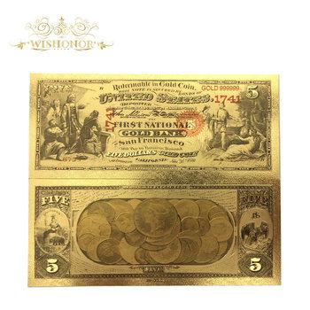 Wszystkich rodzajów banknotów nowej ameryki kolorowy złoty banknot rzadko ameryka dolarów pozłacane banknot na pamiątki tanie i dobre opinie FGHGF Patriotyzmu Antique sztuczna 5 days after you paid America Souvenir collection Gold