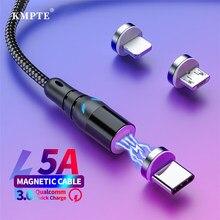KMPTE 5A супер зарядный Магнитный кабель Micro USB Type C Быстрая зарядка для iPhone Samsung Xiaomi Huawei Android телефон зарядное устройство кабель